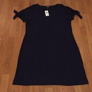 NWT Simple Allison Brittney Tie/Bow Sleeve Dress